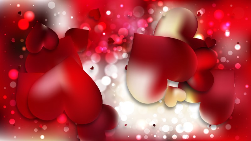 Red and Yellow Heart Wallpaper Background Illustration