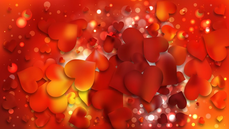 Red and Yellow Valentines Background Image