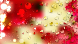 Red and Yellow Love Background Vector Image