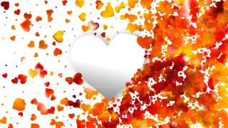 Red and Yellow Heart Background