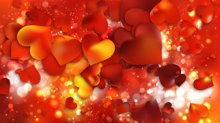 Red and Yellow Heart Wallpaper Background Image