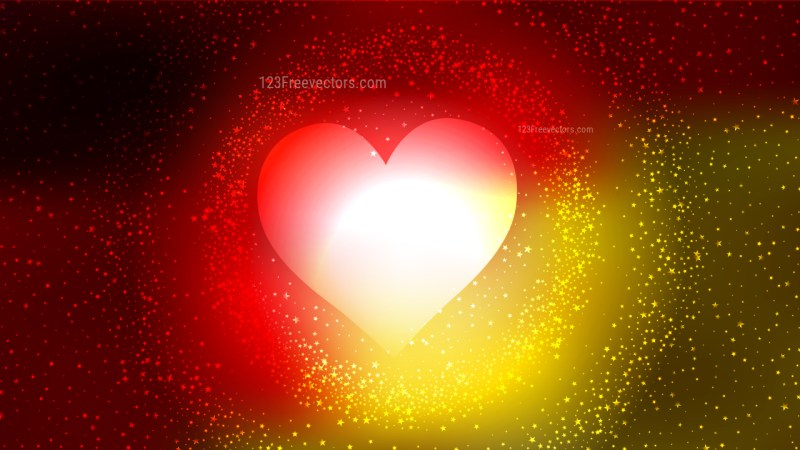 Red and Yellow Valentines Day Background Vector Graphic