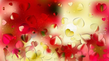 Red and Yellow Valentines Background Vector Image