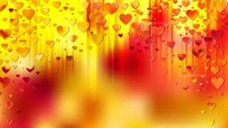 Red and Yellow Love Background