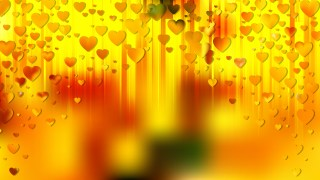 Red and Yellow Heart Background Vector Graphic