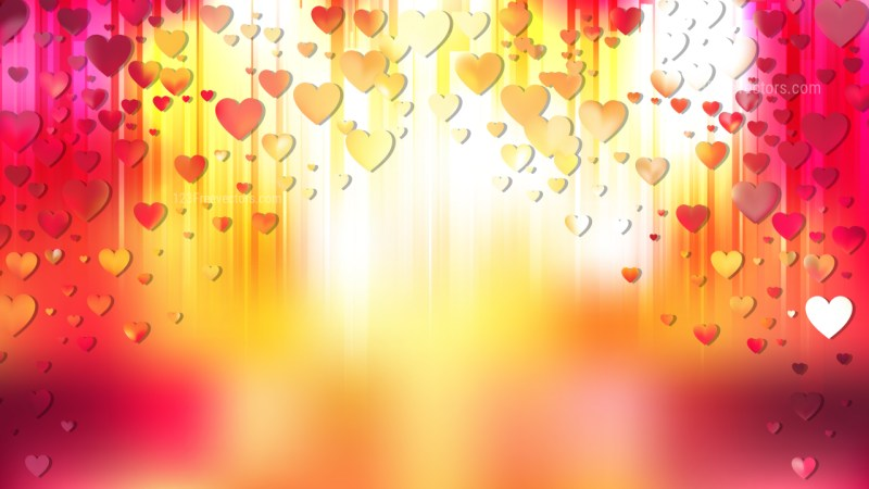Red and Yellow Heart Wallpaper Background Vector Image