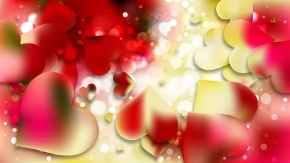 Red and Yellow Valentine Background Vector