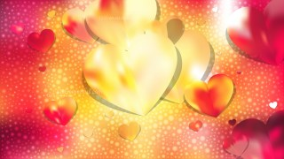 Red and Yellow Heart Background Illustrator