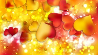 Red and Yellow Valentines Background Vector Art