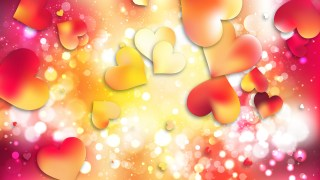Red and Yellow Love Background Illustration