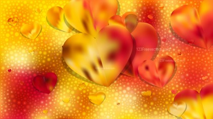 Red and Yellow Valentines Day Background