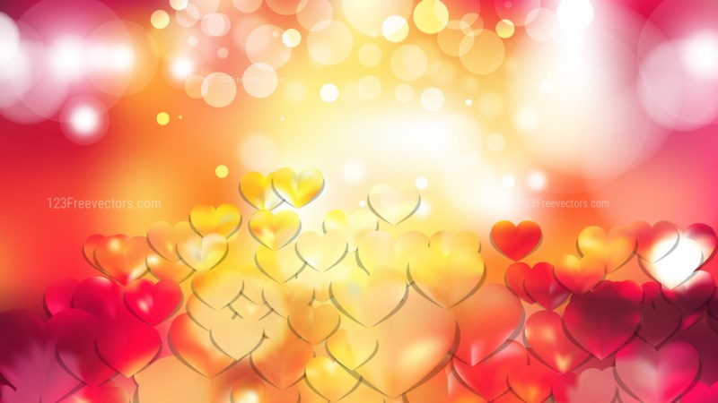Red and Yellow Valentine Background
