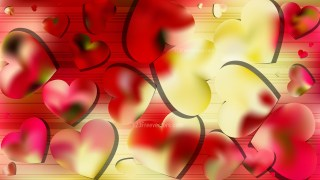 Red and Yellow Heart Background Vector