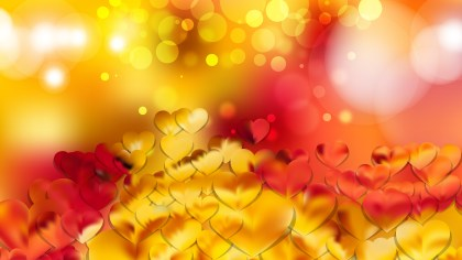 Red and Yellow Heart Wallpaper Background Vector Art
