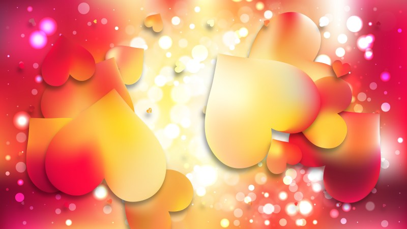 Red and Yellow Valentines Background Illustration
