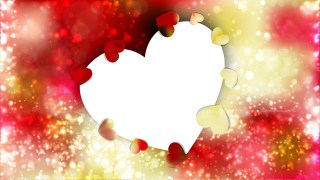 Red and Yellow Love Background Image