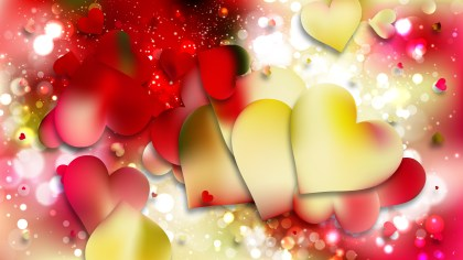 Red and Yellow Valentines Background