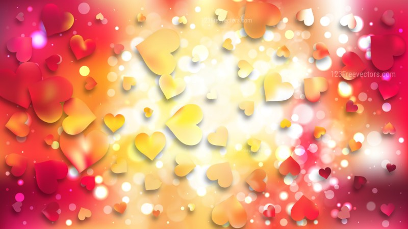 Red and Yellow Valentines Day Background Design