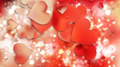 Red and Yellow Valentine Background Vector Graphic