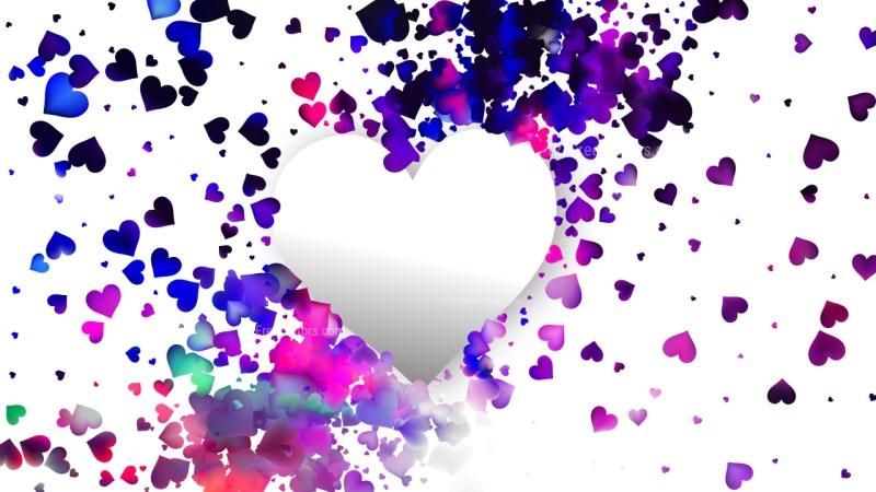 White Love Background