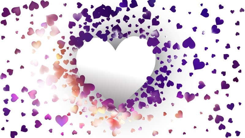White Heart Background Vector