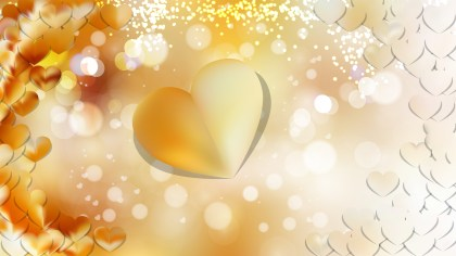 Yellow Valentine Background Design