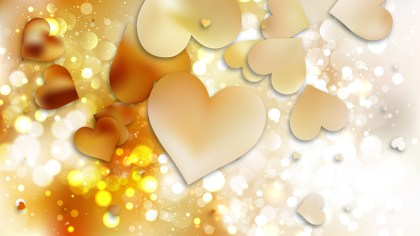 Yellow Heart Background