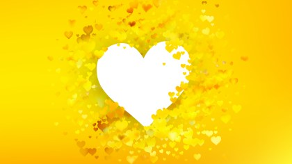 Yellow Heart Wallpaper Background Illustration