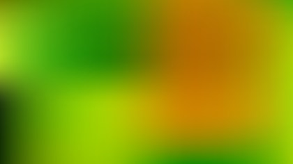 Orange and Green Blur Photo Wallpaper