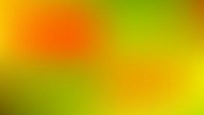 Orange and Green Blurred Background Illustration