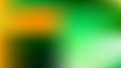 Orange and Green Blurry Background