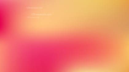 Pink and Yellow Blur Background Vector