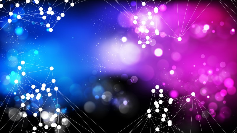 Abstract Blue and Purple Connected Lines and Dots Background Image