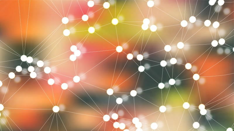 Connecting Dots and Lines Colorful Abstract Background Illustration