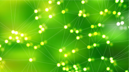 Abstract Green Connected Lines and Dots Background Vector Art