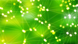 Connecting Dots and Lines Green Abstract Background