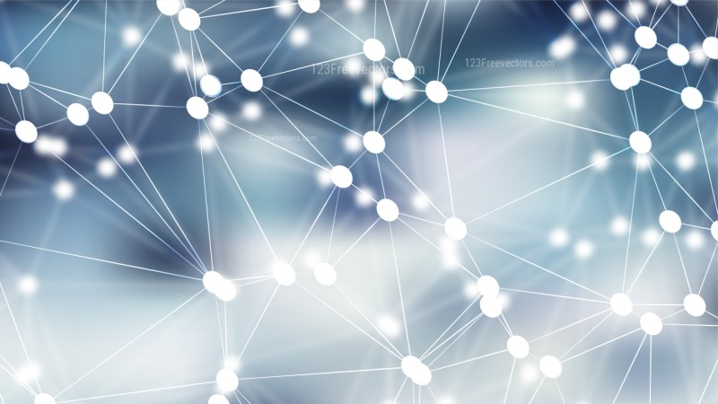 Connecting Dots and Lines Light Blue Abstract Background