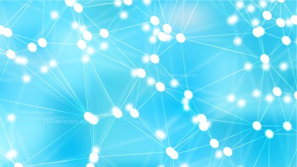 Abstract Light Blue Connected Lines and Dots Background