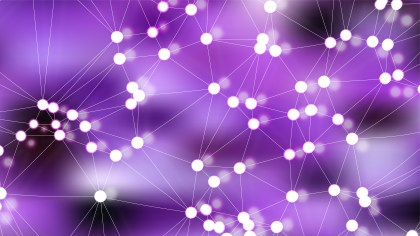 Connecting Dots and Lines Purple Abstract Background Vector Illustration
