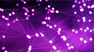 Abstract Purple and Black Connected Lines and Dots Background