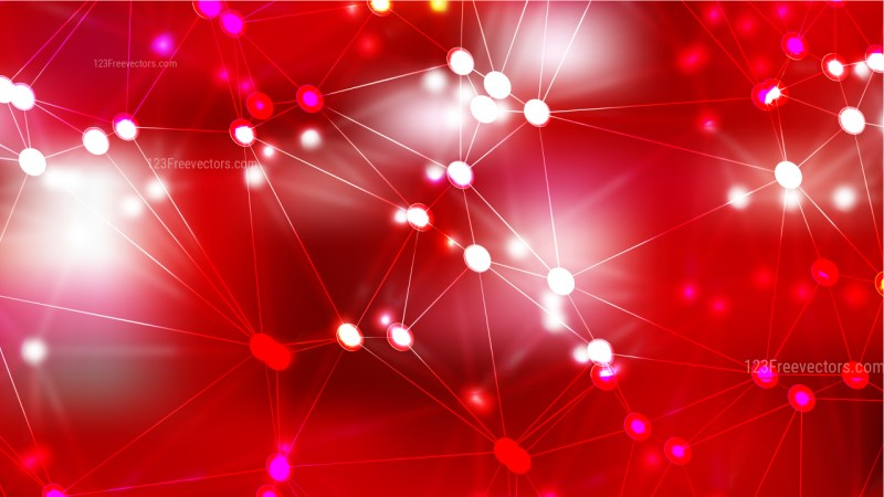 Connecting Dots and Lines Red Abstract Background Image
