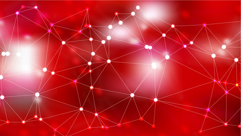 Abstract Red Connected Lines and Dots Background Illustration
