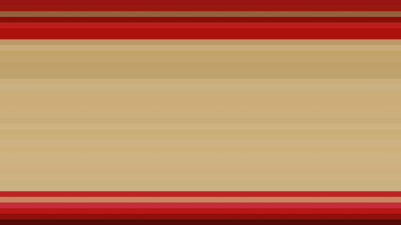 Beige and Red Horizontal Stripes Background Vector