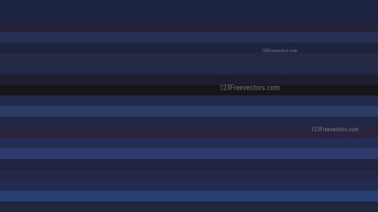 Black and Blue Horizontal Striped Background Vector Image