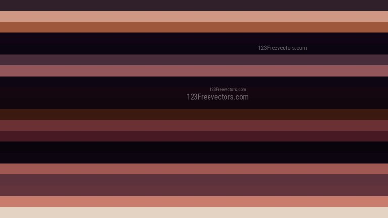 Black and Brown Horizontal Striped Background Vector