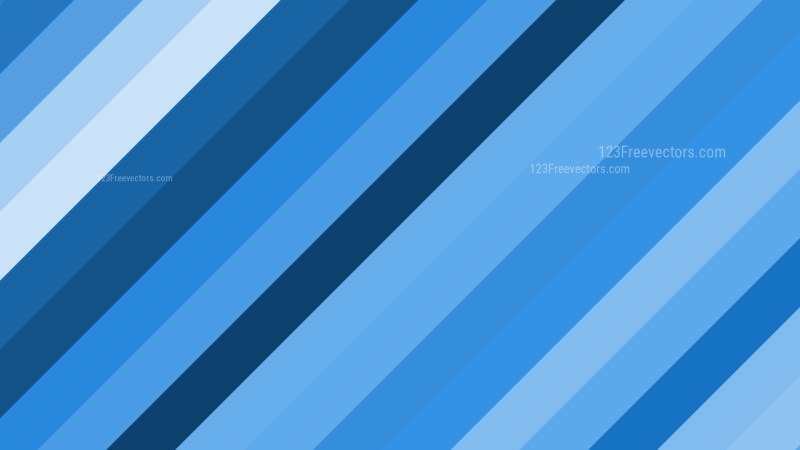 Blue Diagonal Stripes Background Vector Graphic