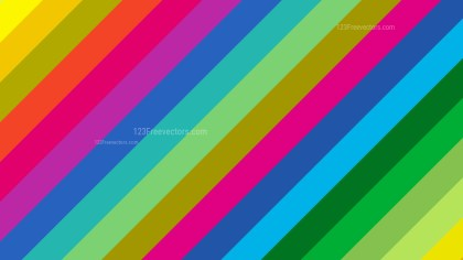 Colorful Diagonal Stripes Background Vector