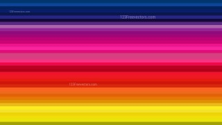 Colorful Horizontal Stripes Background Design