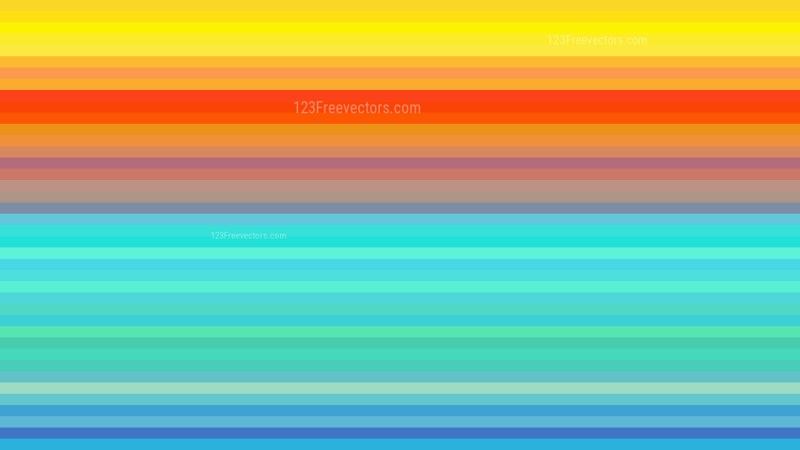 Colorful Horizontal Stripes Background Vector Art