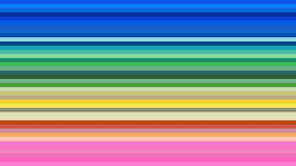 Colorful Horizontal Stripes Background Illustration